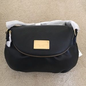 Marc Jacobs Classic Black Leather Messenger Bag